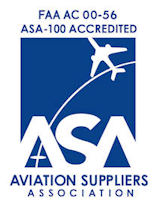 Aircom Aviation Services, LLC is an FAA AC 00-56 ASA-100 Accredited Aviation Suppliers Association